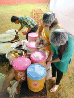 preparation of food for poors