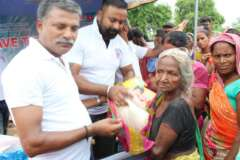 row food for distribution to elderly