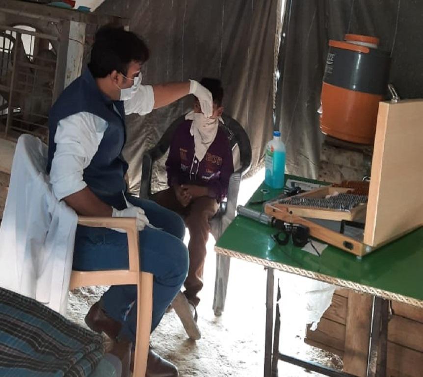 save the humanity eye checkup camp