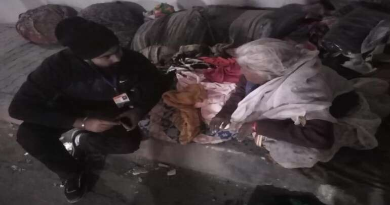 Distribution of Clothes and Blankets