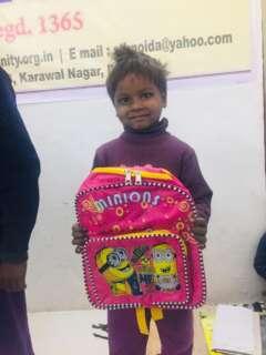 school bag for poor child